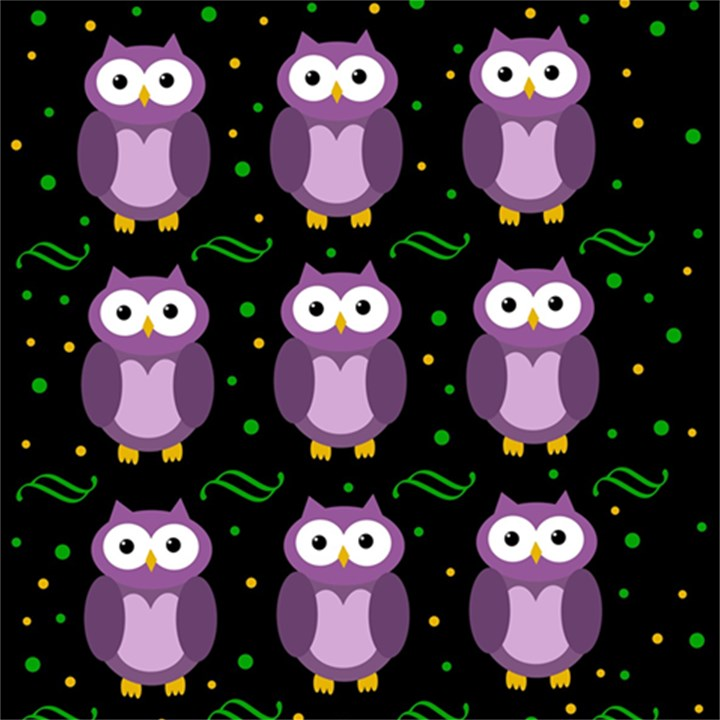 Halloween purple owls pattern Magic Photo Cubes