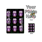Halloween purple owls pattern Playing Cards 54 (Mini)  Front - Joker1