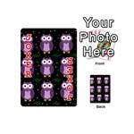 Halloween purple owls pattern Playing Cards 54 (Mini)  Front - Joker2