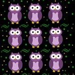 Halloween purple owls pattern Storage Stool 12   Back