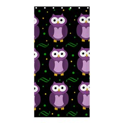 Halloween purple owls pattern Shower Curtain 36  x 72  (Stall)