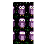 Halloween purple owls pattern Shower Curtain 36  x 72  (Stall)  33.26 x66.24 Curtain
