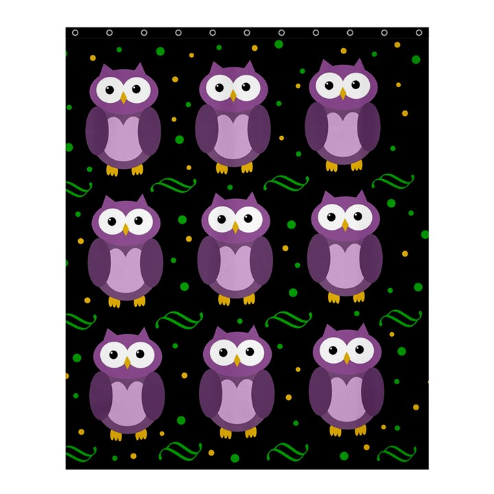 Halloween purple owls pattern Shower Curtain 60  x 72  (Medium)