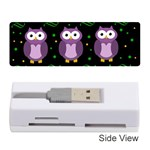 Halloween purple owls pattern Memory Card Reader (Stick)  Front