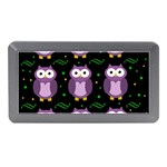 Halloween purple owls pattern Memory Card Reader (Mini) Front