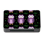 Halloween purple owls pattern Memory Card Reader with CF Front