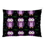 Halloween purple owls pattern Pillow Case (Two Sides) Front