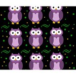 Halloween purple owls pattern Deluxe Canvas 14  x 11  14  x 11  x 1.5  Stretched Canvas