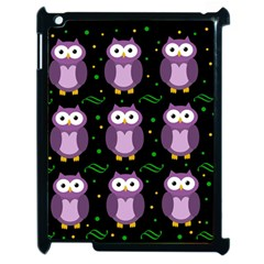 Halloween purple owls pattern Apple iPad 2 Case (Black)
