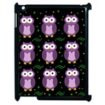 Halloween purple owls pattern Apple iPad 2 Case (Black) Front