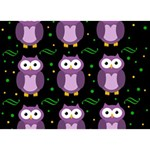 Halloween purple owls pattern BOY 3D Greeting Card (7x5) Front