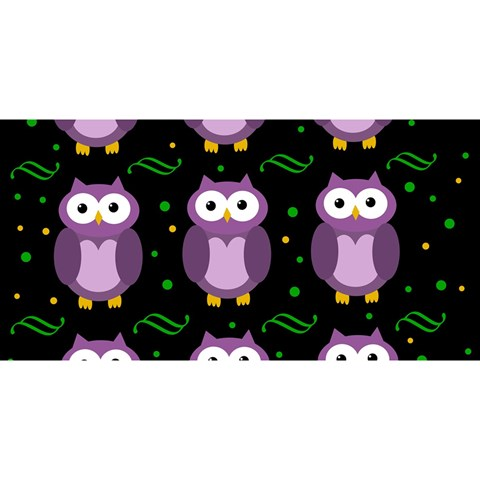 Halloween purple owls pattern YOU ARE INVITED 3D Greeting Card (8x4)