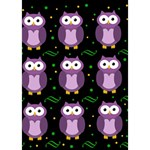 Halloween purple owls pattern Apple 3D Greeting Card (7x5) Inside
