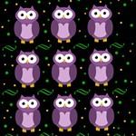 Halloween purple owls pattern BELIEVE 3D Greeting Card (8x4) Inside