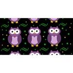 Halloween purple owls pattern BELIEVE 3D Greeting Card (8x4) Back