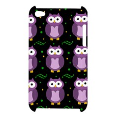 Halloween purple owls pattern Apple iPod Touch 4