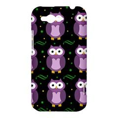 Halloween purple owls pattern HTC Rhyme