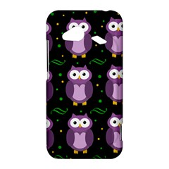 Halloween purple owls pattern HTC Droid Incredible 4G LTE Hardshell Case