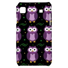 Halloween purple owls pattern Samsung Galaxy S i9000 Hardshell Case