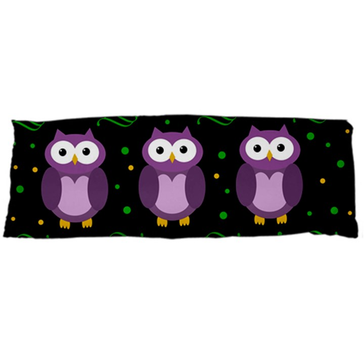 Halloween purple owls pattern Body Pillow Case Dakimakura (Two Sides)