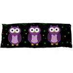 Halloween purple owls pattern Body Pillow Case Dakimakura (Two Sides) Back