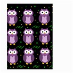 Halloween purple owls pattern Small Garden Flag (Two Sides) Front