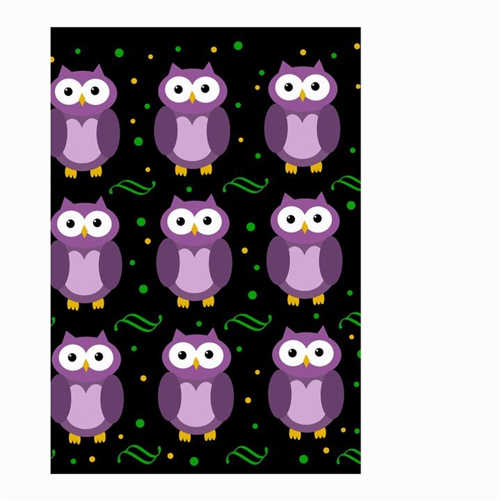 Halloween purple owls pattern Small Garden Flag (Two Sides)
