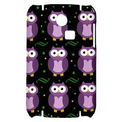 Halloween purple owls pattern Samsung S3350 Hardshell Case