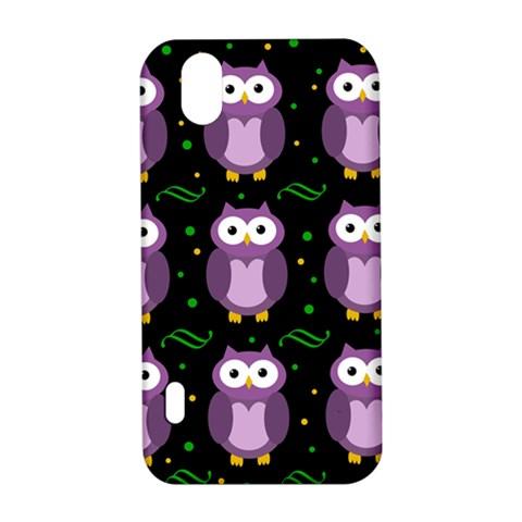 Halloween purple owls pattern LG Optimus P970