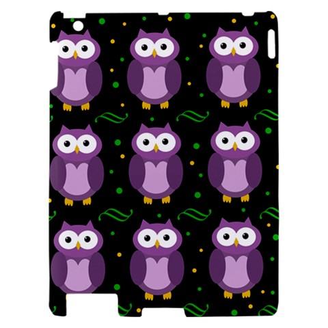 Halloween purple owls pattern Apple iPad 2 Hardshell Case