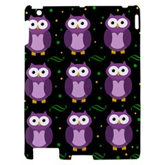 Halloween purple owls pattern Apple iPad 2 Hardshell Case