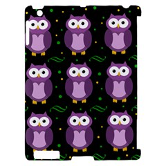 Halloween purple owls pattern Apple iPad 2 Hardshell Case (Compatible with Smart Cover)