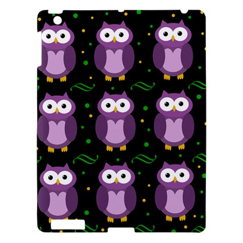 Halloween purple owls pattern Apple iPad 3/4 Hardshell Case