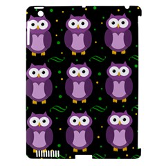 Halloween Purple Owls Pattern Apple Ipad 3/4 Hardshell Case (compatible With Smart Cover)