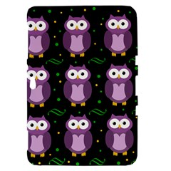 Halloween purple owls pattern Samsung Galaxy Tab 8.9  P7300 Hardshell Case