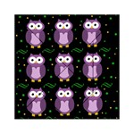 Halloween purple owls pattern Acrylic Tangram Puzzle (6  x 6 ) Front