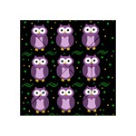Halloween purple owls pattern Acrylic Tangram Puzzle (4  x 4 ) Front