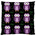 Halloween purple owls pattern Large Cushion Case (Two Sides) Front
