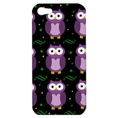 Halloween purple owls pattern Apple iPhone 5 Hardshell Case