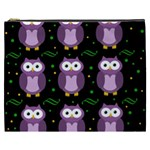 Halloween purple owls pattern Cosmetic Bag (XXXL)  Front