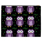 Halloween purple owls pattern Cosmetic Bag (XXXL)  Back