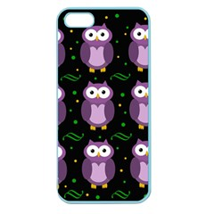 Halloween purple owls pattern Apple Seamless iPhone 5 Case (Color)