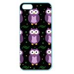 Halloween purple owls pattern Apple Seamless iPhone 5 Case (Color) Front