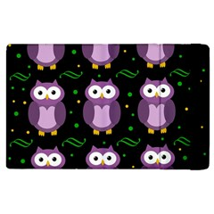 Halloween Purple Owls Pattern Apple Ipad 2 Flip Case