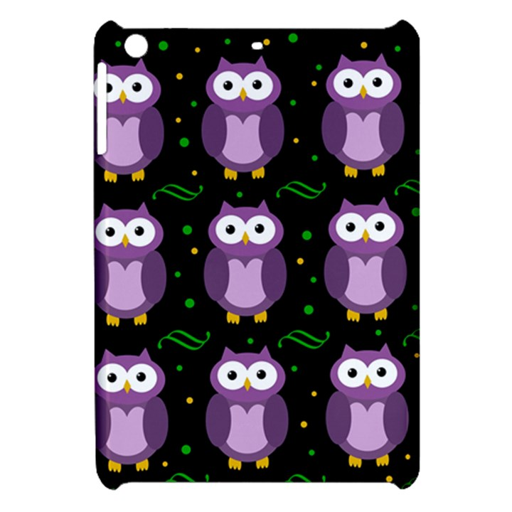 Halloween purple owls pattern Apple iPad Mini Hardshell Case