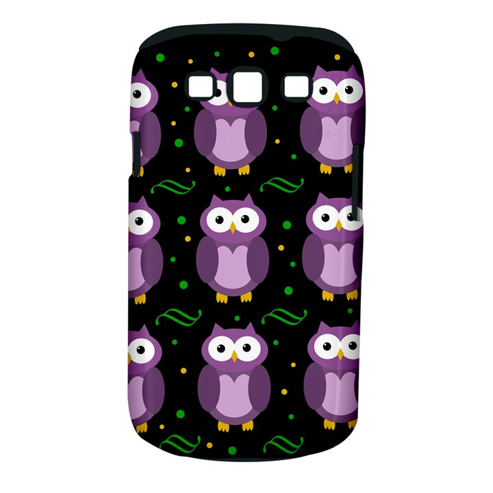 Halloween purple owls pattern Samsung Galaxy S III Classic Hardshell Case (PC+Silicone)