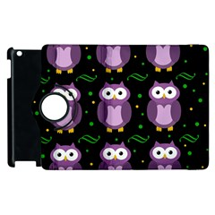 Halloween purple owls pattern Apple iPad 2 Flip 360 Case