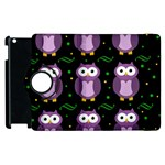 Halloween purple owls pattern Apple iPad 2 Flip 360 Case Front