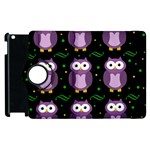 Halloween purple owls pattern Apple iPad 3/4 Flip 360 Case Front