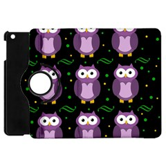 Halloween purple owls pattern Apple iPad Mini Flip 360 Case